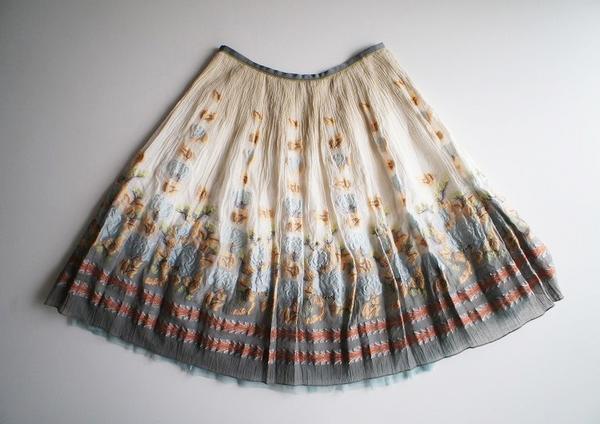 LoisCRAYON(ロイスクレヨン) 古着 リサイクル 花柄ジャガードスカート