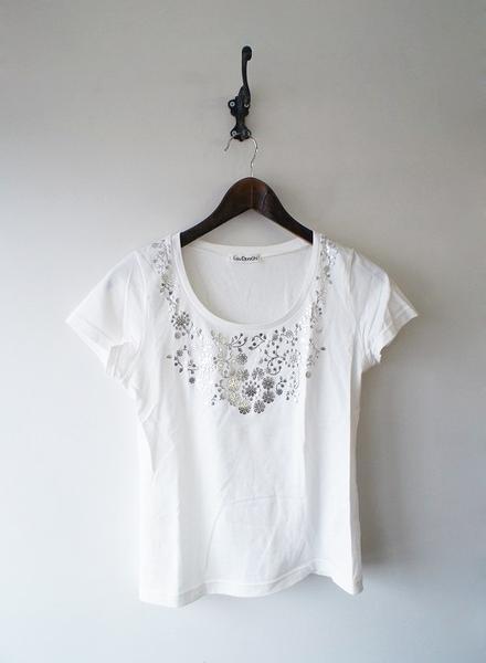 LoisCRAYON(ロイスクレヨン) 古着 リサイクル フラワー箔プリントTシャツ