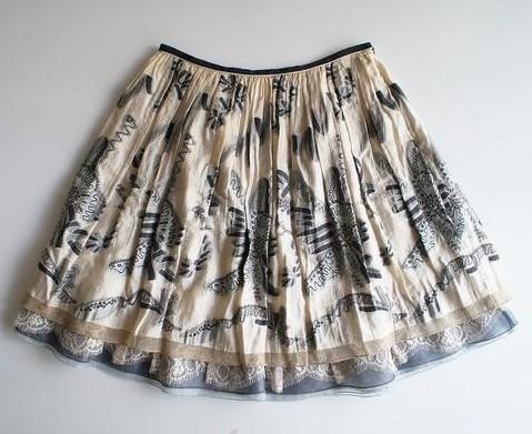 LoisCRAYON(ロイスクレヨン) 古着 リサイクル リボンジャガードスカート