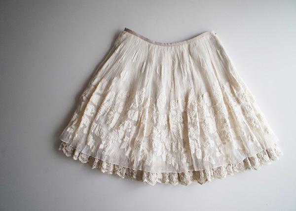 LoisCRAYON(ロイスクレヨン) 古着 リサイクル ドット花柄ジャガードスカート