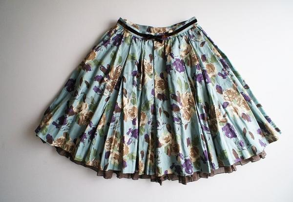 LoisCRAYON(ロイスクレヨン) 古着 リサイクル Fリボンフラワースカート