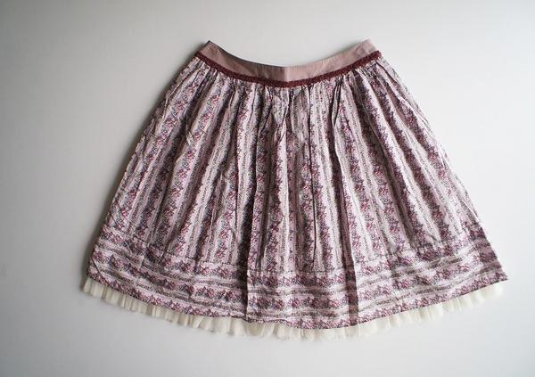 LoisCRAYON(ロイスクレヨン) 古着 リサイクル ローズストライプスカート