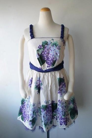 LoisCRAYON(ロイスクレヨン) 古着 リサイクル 紫陽花スミレワンピース