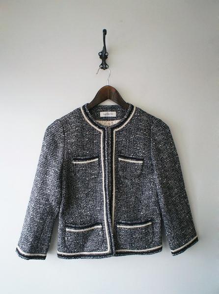 LoisCRAYON(ロイスクレヨン) 古着 リサイクル ノーカラーツイードジャケット