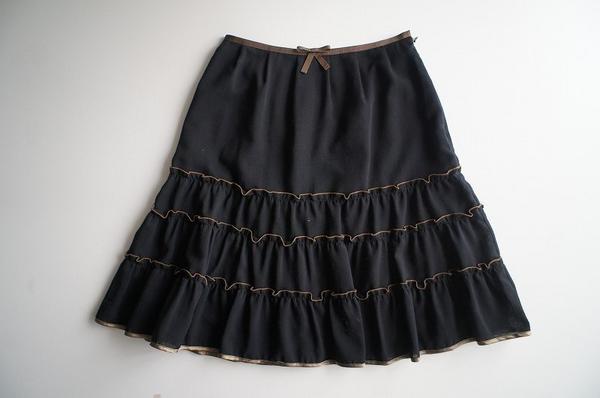 LoisCRAYON(ロイスクレヨン) 古着 リサイクル フリルフレアースカート