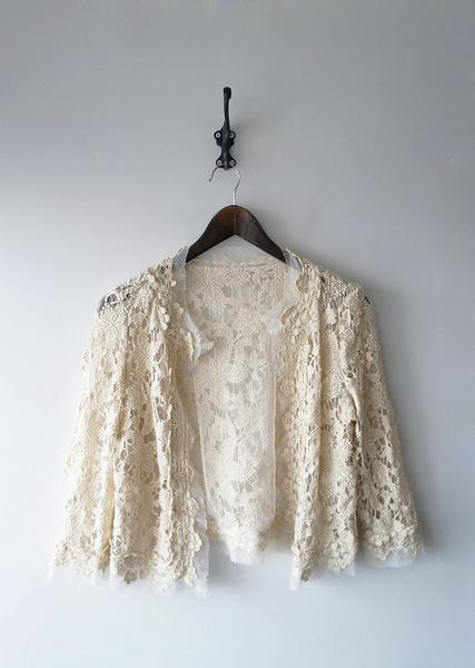 LoisCRAYON(ロイスクレヨン) 古着 リサイクル カギ針編みチュールカーディガン