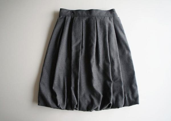LoisCRAYON(ロイスクレヨン) 古着 リサイクル バックリボンボリュームスカート
