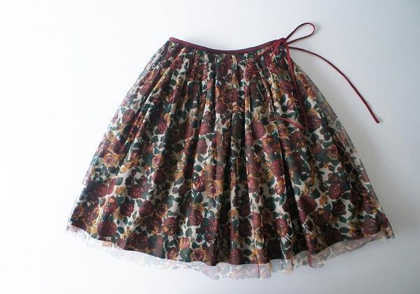 LoisCRAYON(ロイスクレヨン) 古着 リサイクル フラワープリントチュールスカート