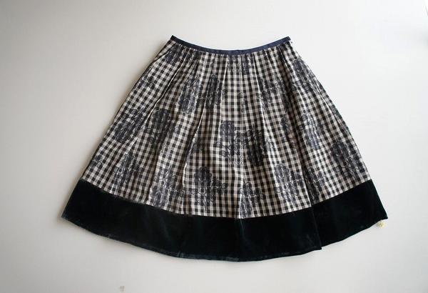 LoisCRAYON(ロイスクレヨン) 古着 リサイクル 刺繍チェックスカート