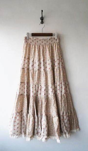 LoisCRAYON(ロイスクレヨン) 古着 リサイクル 小花柄マキシスカート