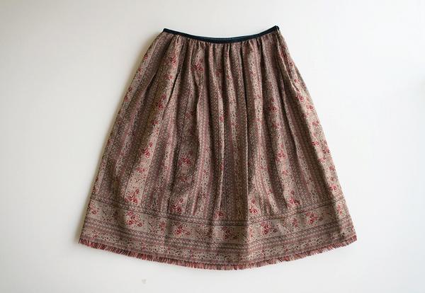 LoisCRAYON(ロイスクレヨン) 古着 リサイクル フラワーゴブランボリュームスカート