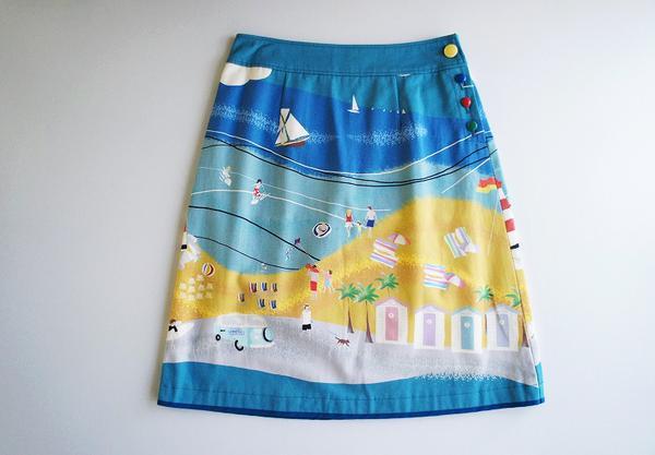 LoisCRAYON(ロイスクレヨン) 古着 リサイクル マリンプリントスカート