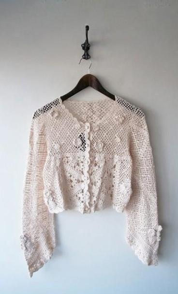 LoisCRAYON(ロイスクレヨン) 古着 リサイクル カギ針編みカーディガン