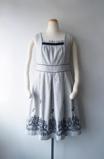 LoisCRAYON(ロイスクレヨン) 古着 リサイクル スソフラワー刺繍ワンピース
