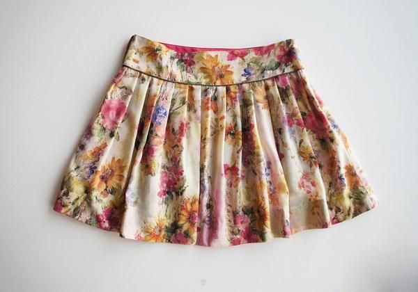 LoisCRAYON(ロイスクレヨン) 古着 リサイクル フラワープリントプリーツスカート