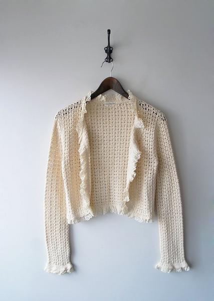 LoisCRAYON(ロイスクレヨン) 古着 リサイクル カギ針編みレースカーディガン