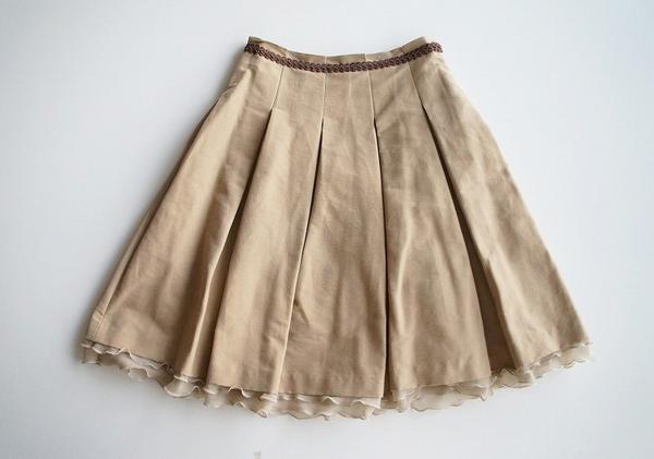 LoisCRAYON(ロイスクレヨン) 古着 リサイクル スソフリルプリーツスカート
