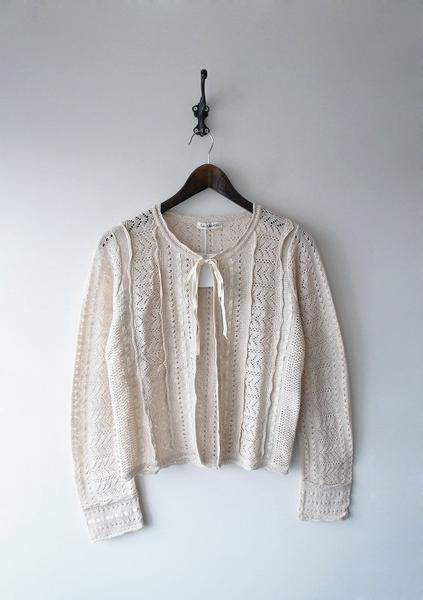 LoisCRAYON(ロイスクレヨン) 古着 リサイクル 透かし編みカーディガン
