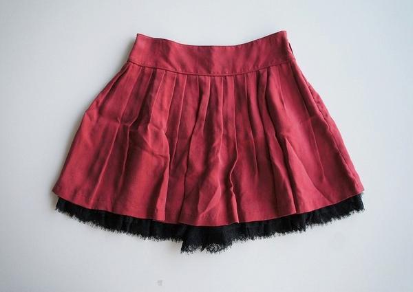LoisCRAYON(ロイスクレヨン) 古着 リサイクル 裾レースフリルプリーツスカート