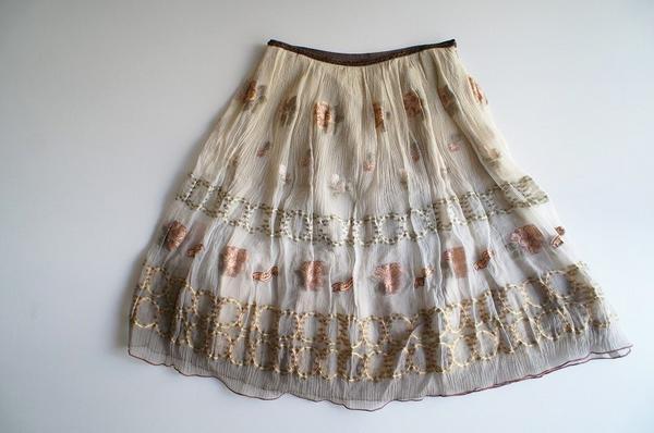LoisCRAYON(ロイスクレヨン) 古着 リサイクル フラワージャガードスカート