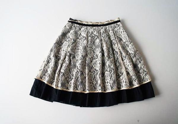 LoisCRAYON(ロイスクレヨン) 古着 リサイクル フラワーレーススカート