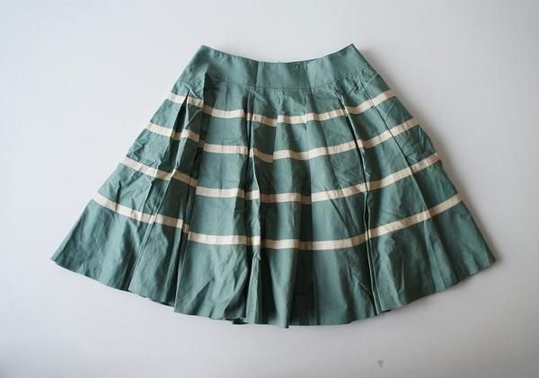 LoisCRAYON(ロイスクレヨン) 古着 リサイクル ボーダーテープボリュームスカート