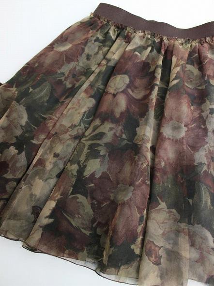 LoisCRAYON(ロイスクレヨン) 古着 リサイクル フラワー プリント スカート