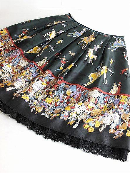 LoisCRAYON(ロイスクレヨン) 古着 リサイクル サーカスプリント スカート