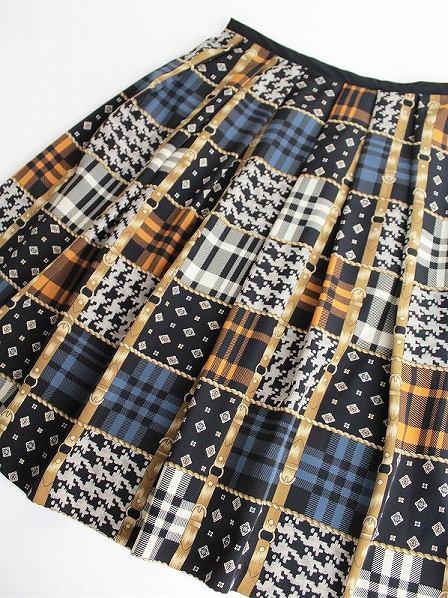 LoisCRAYON(ロイスクレヨン) 古着 リサイクル チェックベルト プリント スカート