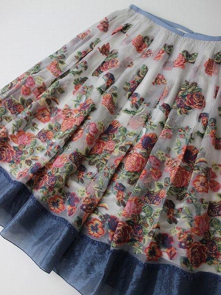 LoisCRAYON(ロイスクレヨン) 古着 リサイクル フラワーカットジャガードスカート