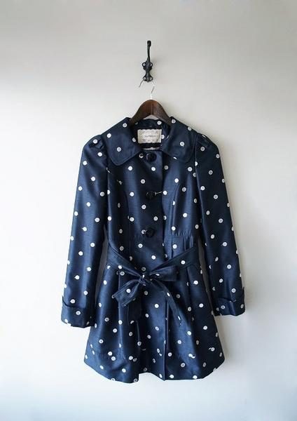 LoisCRAYON(ロイスクレヨン) 古着 リサイクル シャンタンドット刺繍コート