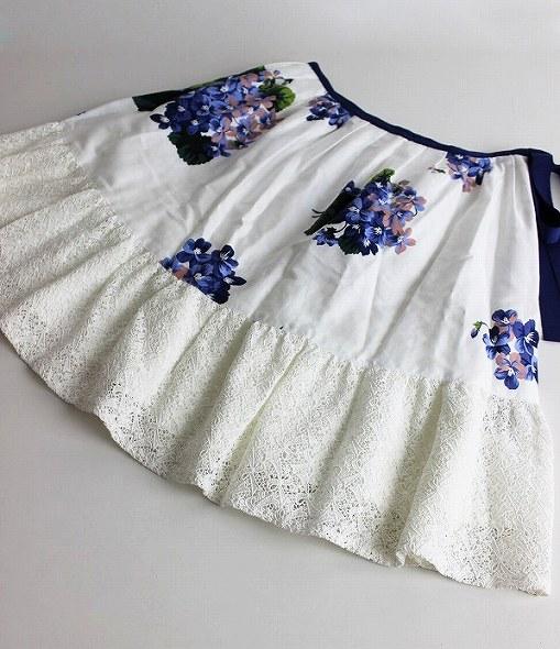 LoisCRAYON(ロイスクレヨン) スミレプリント レースコンビ スカート