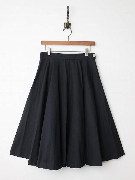 LoisCRAYON(ロイスクレヨン) ウエストボタン ロング フレア スカート