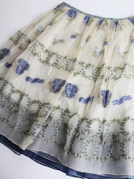 LoisCRAYON(ロイスクレヨン) フラワー ジャガード スカート