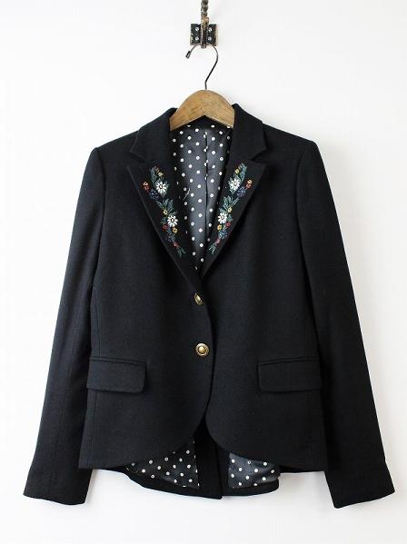 LoisCRAYON(ロイスクレヨン) フラワー刺繍 ジャケット