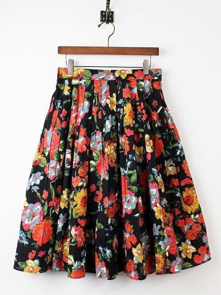 LoisCRAYON(ロイスクレヨン) 古着 リサイクル ダークフラワープリントスカート