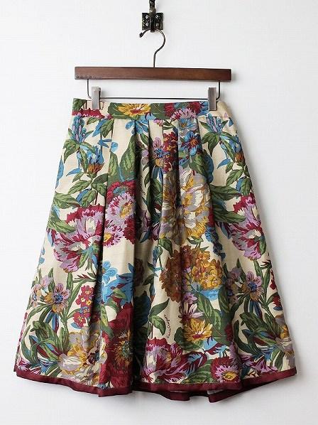LoisCRAYON(ロイスクレヨン) 古着 リサイクル ピオニー プリント フレア スカート