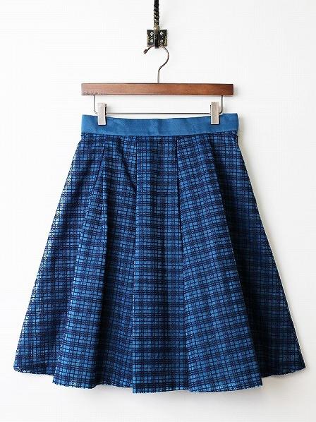 LoisCRAYON(ロイスクレヨン) 古着 リサイクル チェック オーガンジー フレア スカート