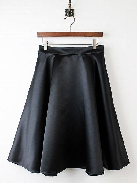 LoisCRAYON(ロイスクレヨン) サテン フレア スカート