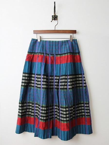 LoisCRAYON(ロイスクレヨン) チェック プリーツ スカート