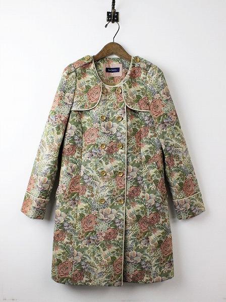 LoisCRAYON(ロイスクレヨン) ノーカラー フラワーゴブラン コート