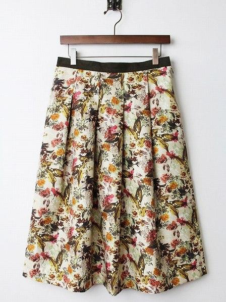 LoisCRAYON(ロイスクレヨン) 古着 リサイクル シャンタンフラワー プリント スカート