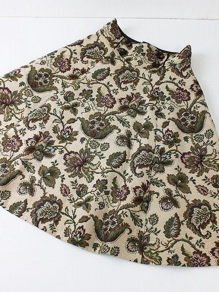 LoisCRAYON(ロイスクレヨン) 古着 リサイクル ウエストアクセント フラワーゴブランスカート