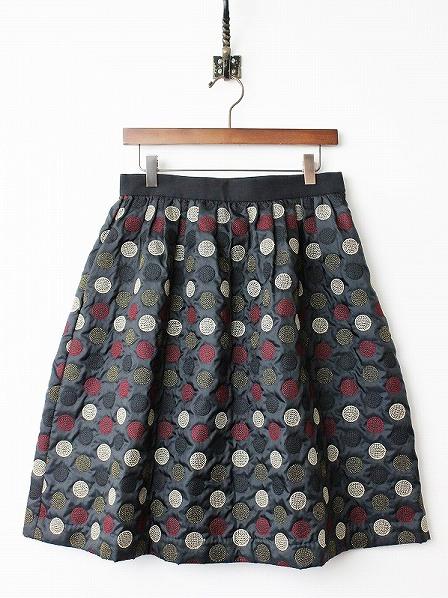 LoisCRAYON(ロイスクレヨン) 古着 リサイクル ラメドット 刺繍 フレア スカート