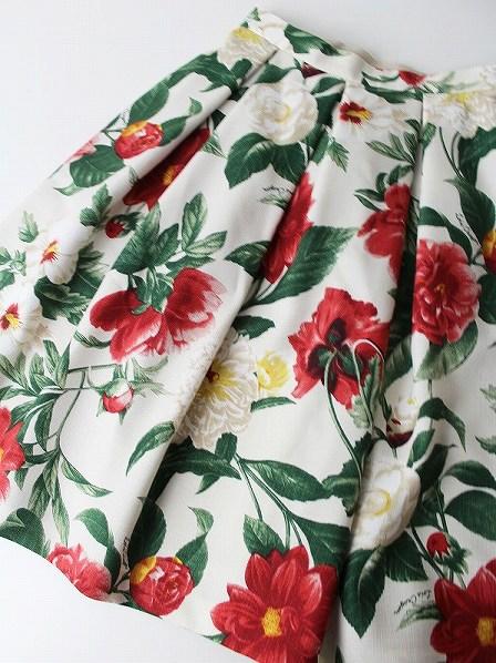 LoisCRAYON(ロイスクレヨン) 古着 リサイクル レッドフラワー フレア スカート