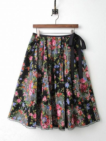 LoisCRAYON(ロイスクレヨン) 古着 リサイクル リース フラワー プリント フレア スカート