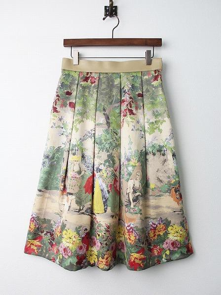 LoisCRAYON(ロイスクレヨン) 古着 リサイクル キフジン プリント クラシカル スカート