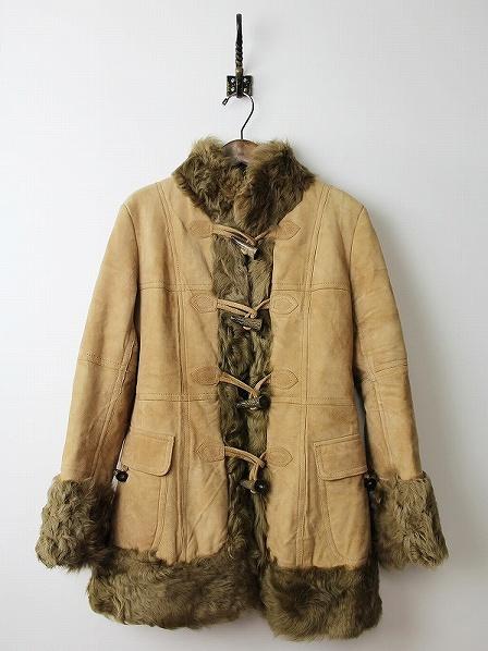 LoisCRAYON(ロイスクレヨン) ムートン レザー ダッフル コート