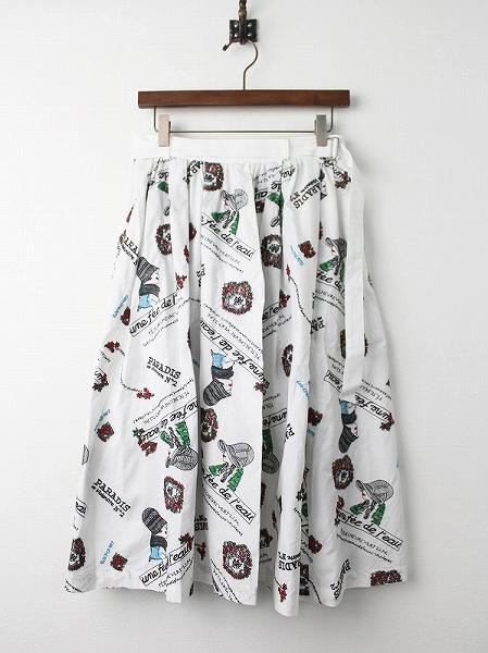 LoisCRAYON(ロイスクレヨン) 古着 リサイクル レディ刺繍 スカート