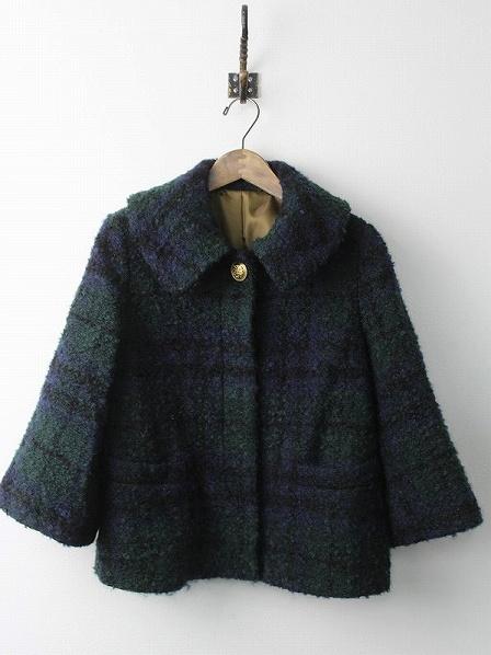 LoisCRAYON(ロイスクレヨン) 古着 リサイクル ブークレニット チェック ショート コート